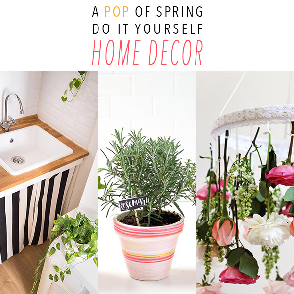 A pop of spring do it yourself home decor the cottage market for Do it yourself mural