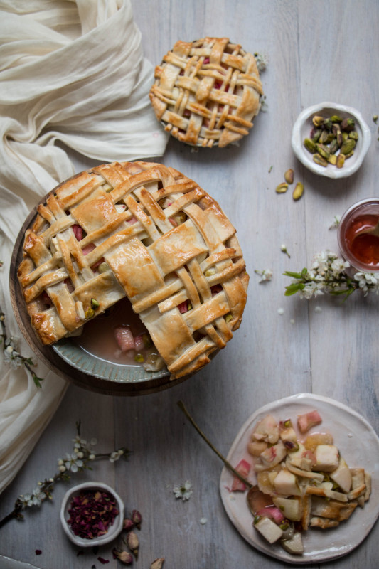 apple-rose-and-rhubarb-and-pistachio-pie-1-533x800