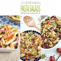25 Vegetarian Pasta Salads /// Perfect for Outdoor Fun!
