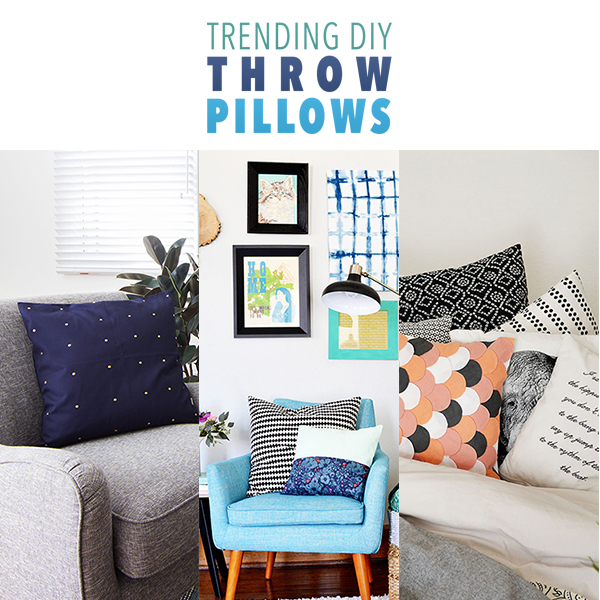 Trending DIY Throw Pillows