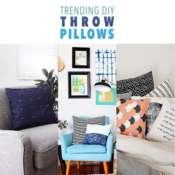Trending DIY Throw Pillows