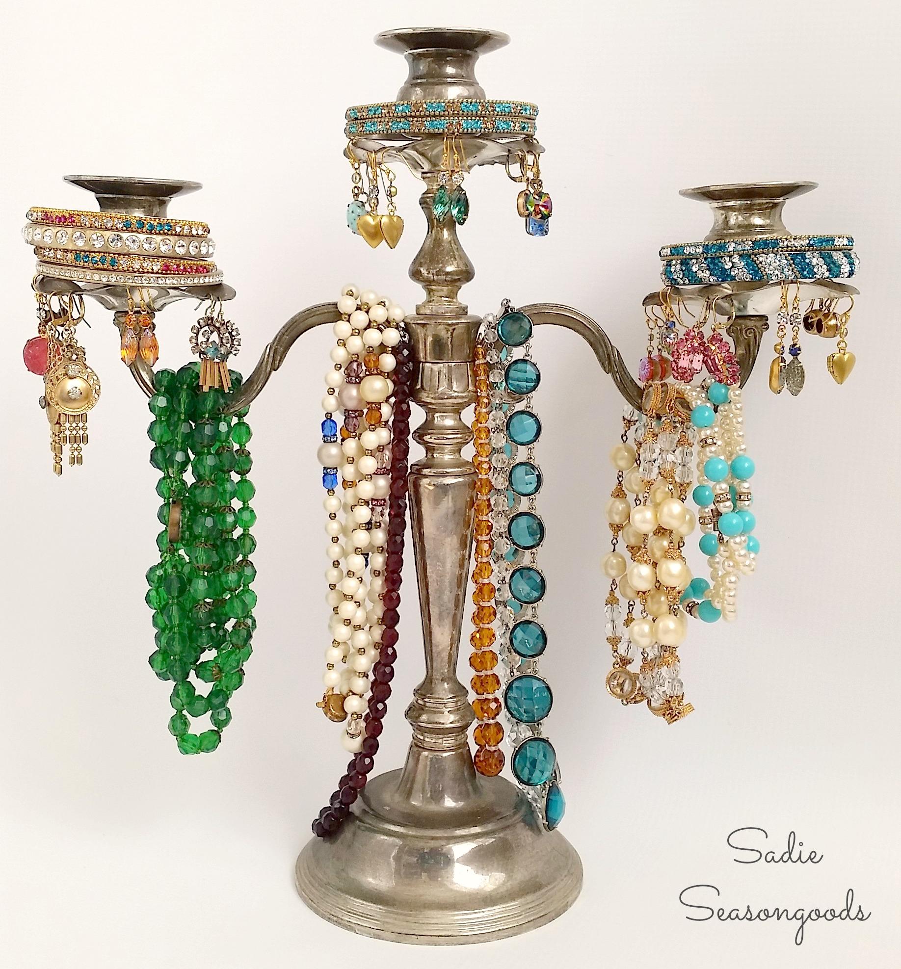 Sadie_Seasongoods_thrifted_silver_candelabra_jewelry_tree-1
