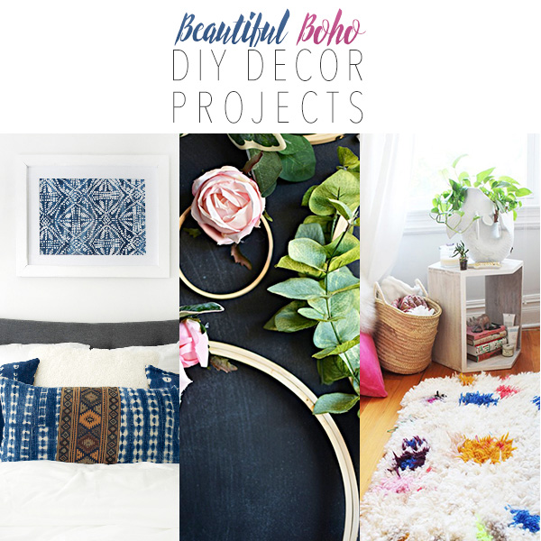 Beautiful Boho DIY Decor Projects