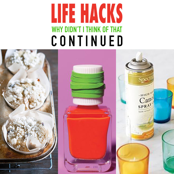 Life Hacks Why Didn't I Think of that Continued…