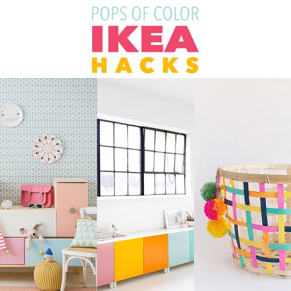Pops of Color IKEA Hacks