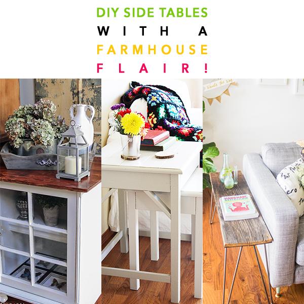 DIY Side Tables with a Farmhouse Flair