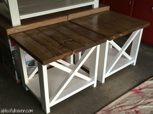 DIY Side Tables with a Farmhouse Flair Page 9 of 11 The Cottage Market