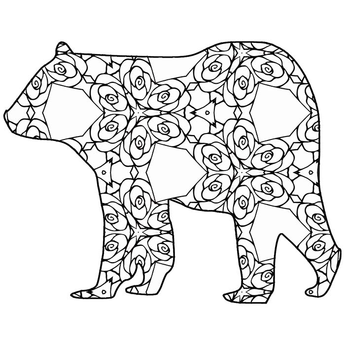 Animals free printable coloring pages ~ 30 Free Printable Geometric Animal Coloring Pages | The ...