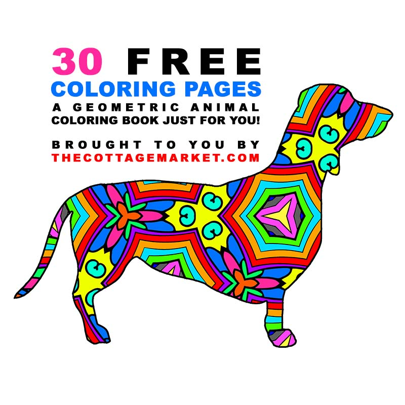 30 Free Coloring Pages /// A Geometric Animal Coloring Book Just for You