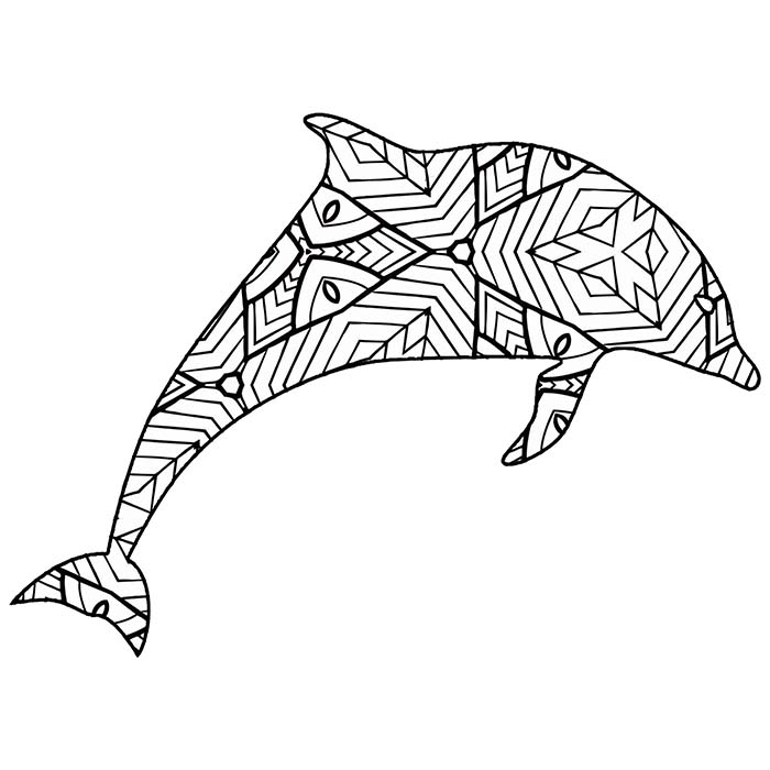This free printable dolphin graphic is a fun coloring page.