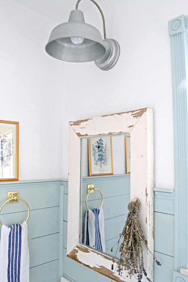 The newest in farmhouse diy home decor page 3 of 10 - Farmhouse style bathroom mirrors ...
