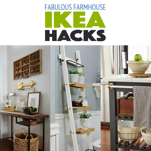 10 fabulous farmhouse style ikea hacks the cottage market. Black Bedroom Furniture Sets. Home Design Ideas
