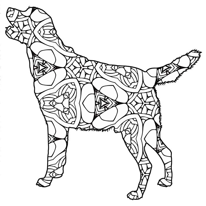 This geometric labrador graphic is printable and free.