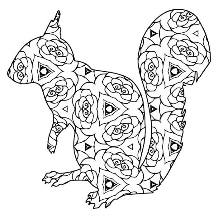 This printable squirrel graphic makes for a fun coloring activity.