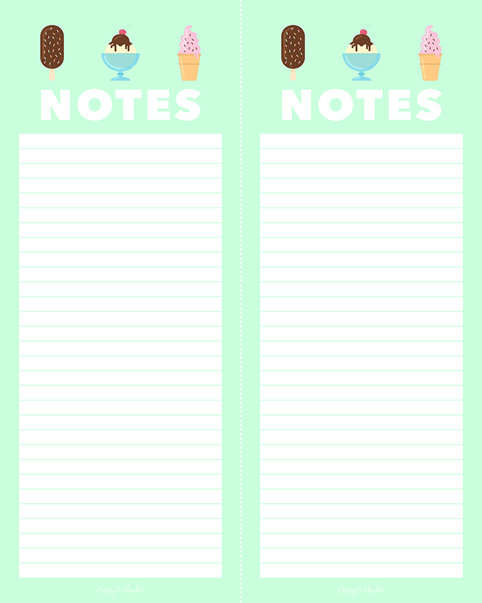 Modest image regarding printable notepads