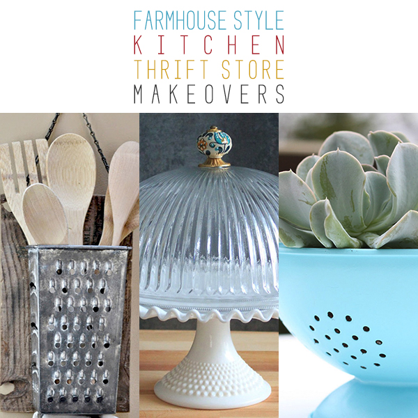 Farmhouse Style Kitchen Thrift Store Makeovers