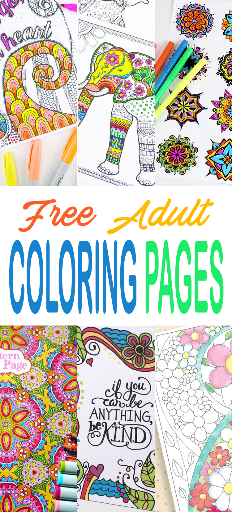 These adult coloring pages are totally free and printable too.