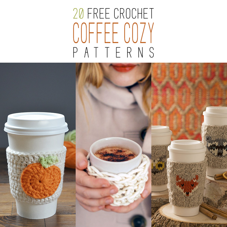 20 Free Crochet Coffee Cozy Patterns