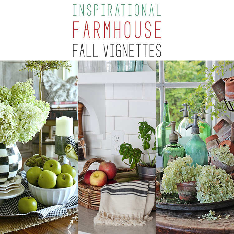 20 Inspirational Farmhouse Fall Vignettes