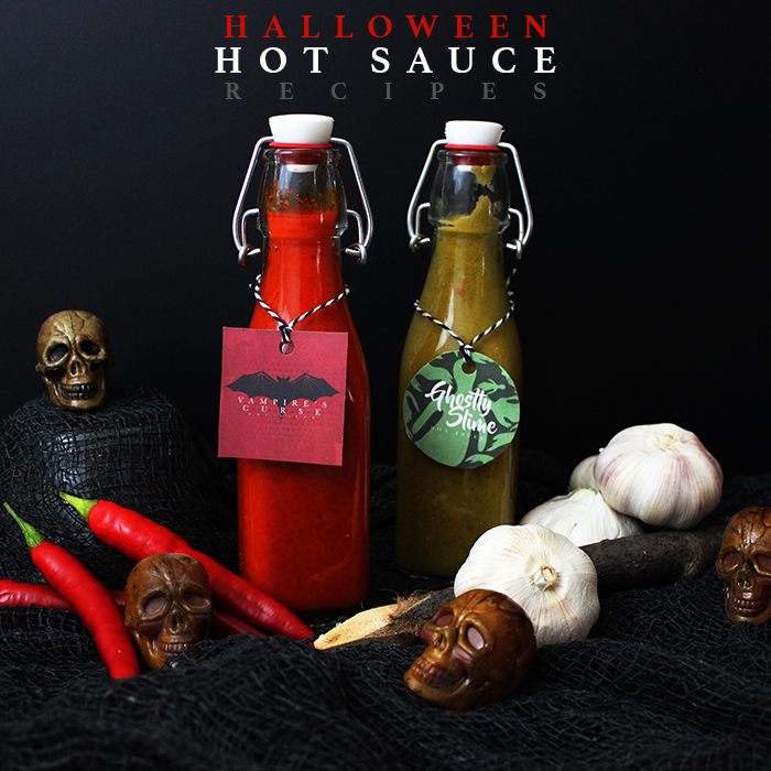 Halloween Hot Sauce Recipes /// Free Printable Tags