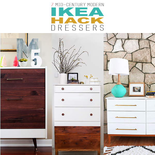 7 Mid Century Modern Ikea Dresser Makeovers The Cottage