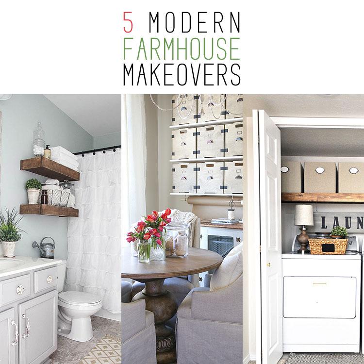 5 Modern Farmhouse Room Makeovers