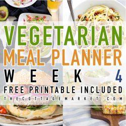 Vegetarian Meal Planner Week 4
