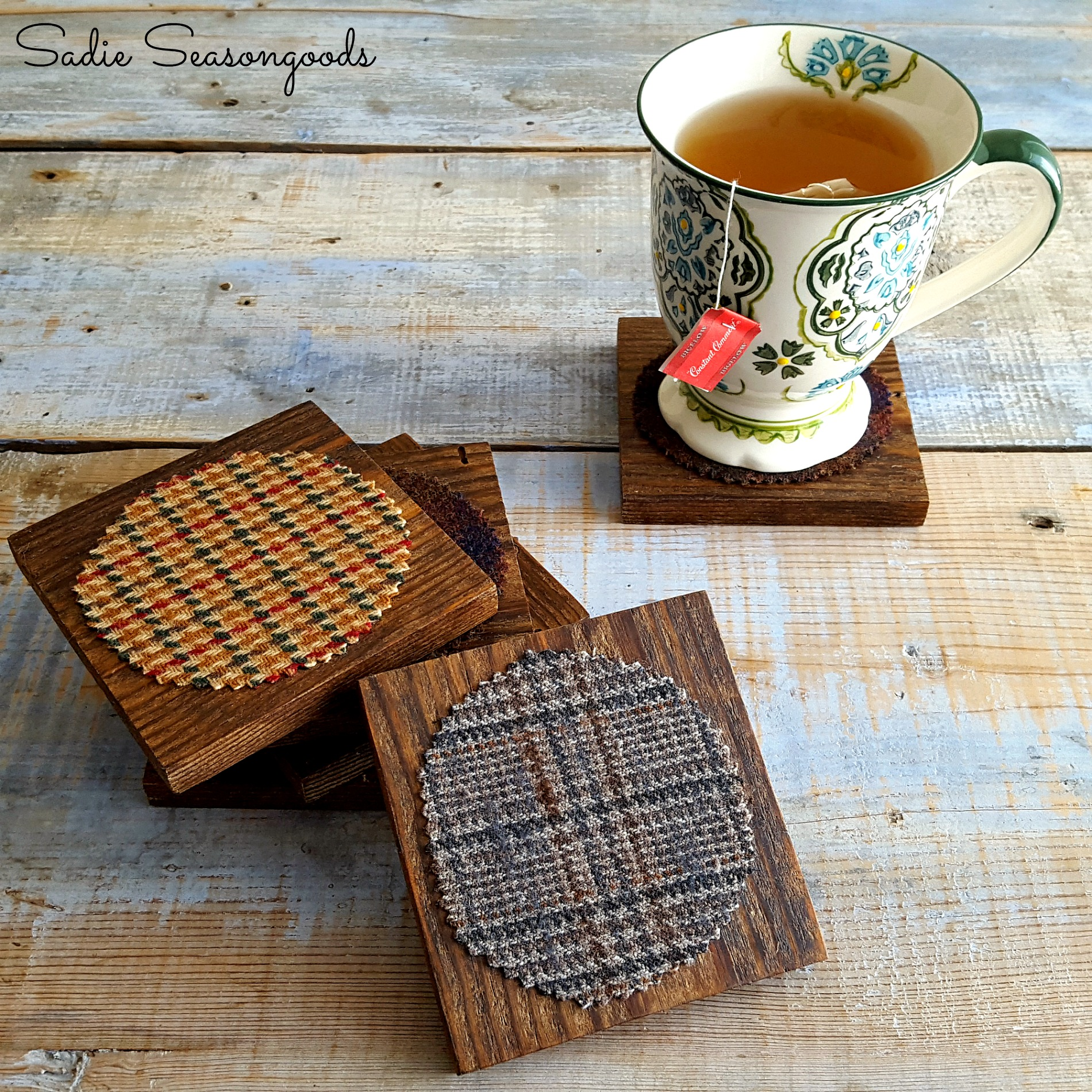 11b_Creating_salvaged_wood_and_tweed_coasters_for_autumn_by_Sadie_Seasongoods