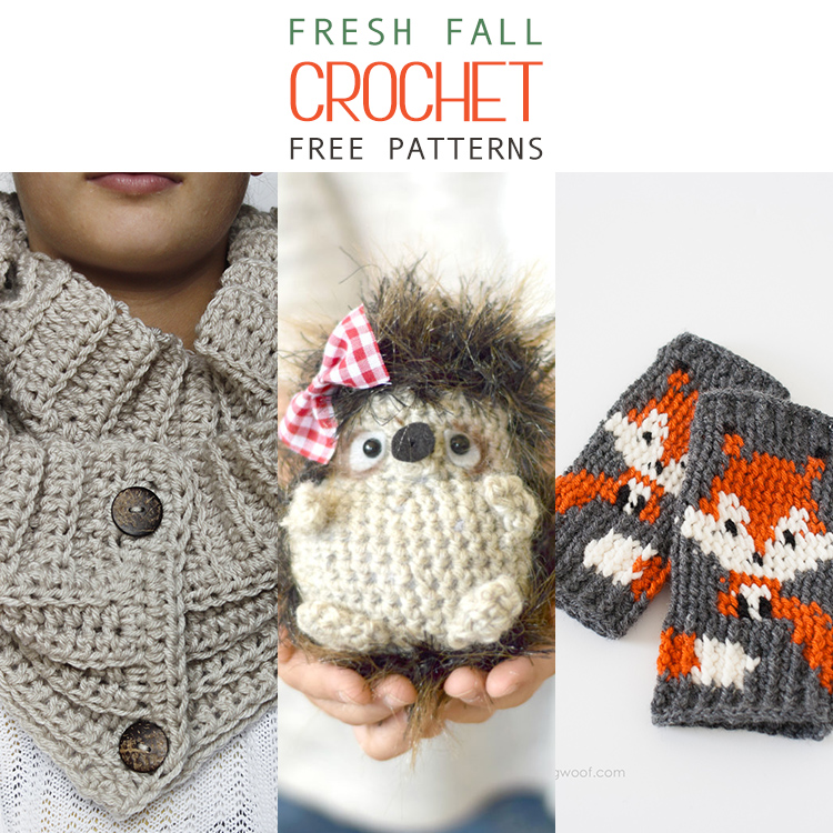 15 Fresh Fall Free Crochet Patterns The Cottage Market