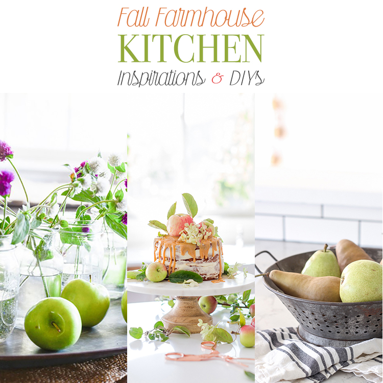 10 Fall Farmhouse Kitchen Inspirations and DIYs