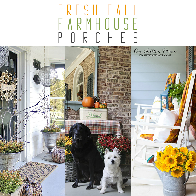 Fresh Farmhouse Fall Porches