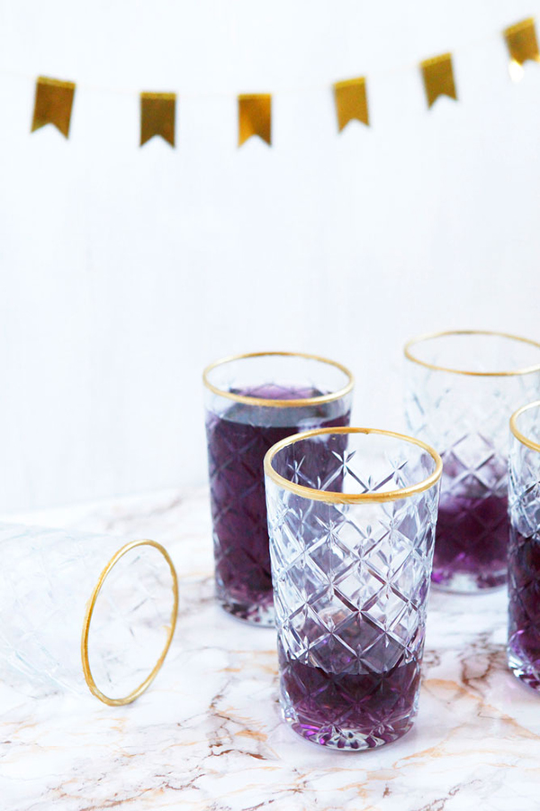 DIY gold-rimmed glasses | freckleandfair.com