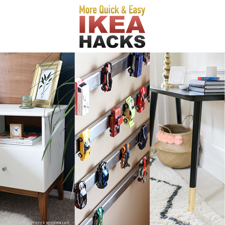 10 more quick and easy ikea hacks the cottage market. Black Bedroom Furniture Sets. Home Design Ideas