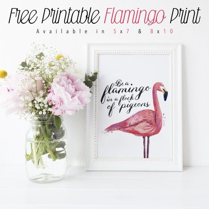 Free Printable Flamingo Print The Cottage Market