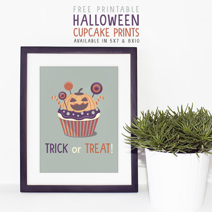 Free Printable Halloween Cupcake Prints