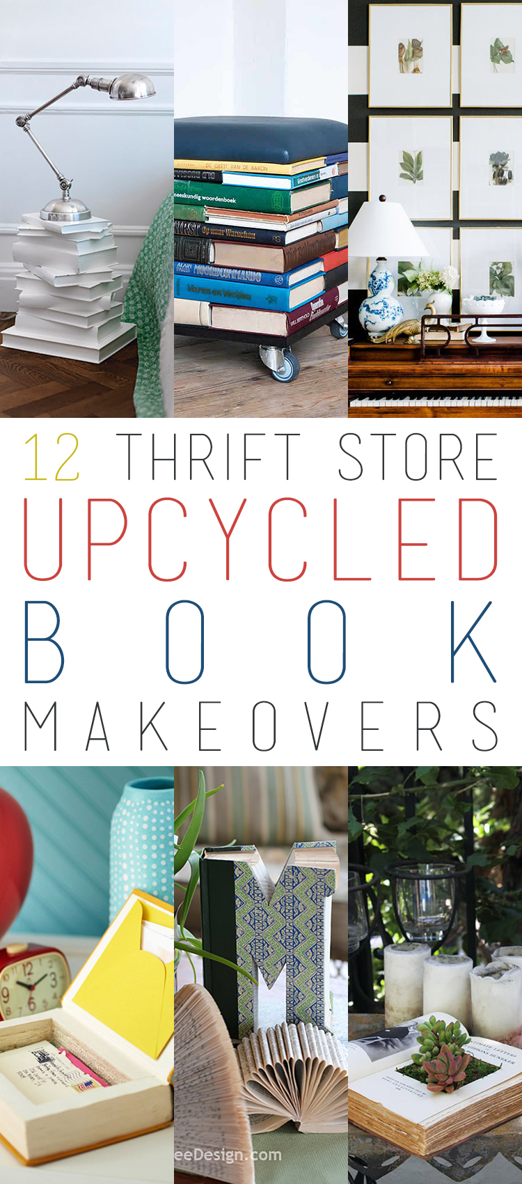 12 Thrift Store Upcycled Book Makeovers The Cottage Market