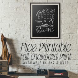 Free Printable Fall Chalkboard Print