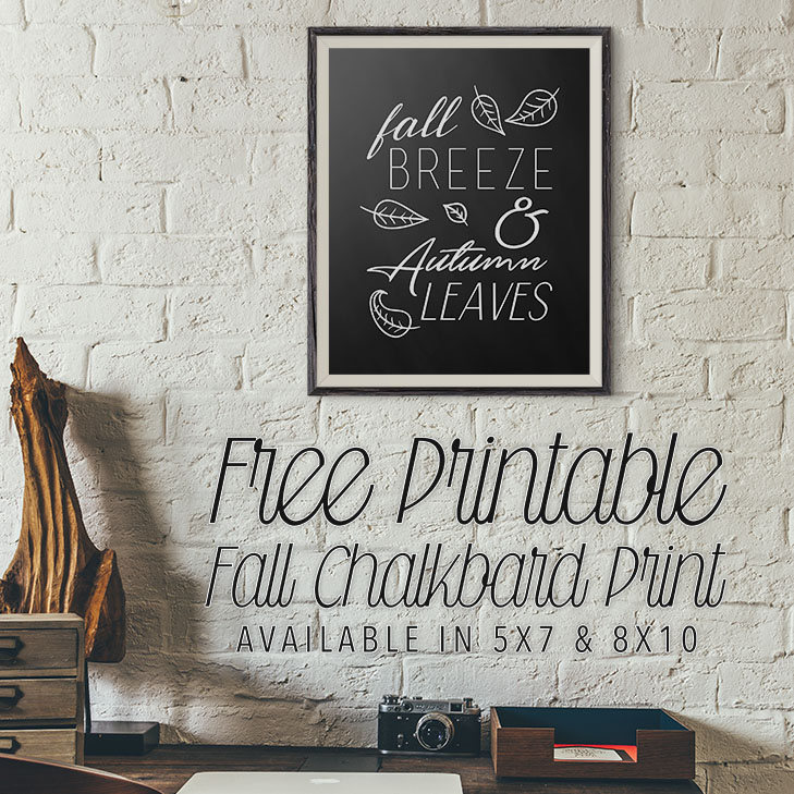 Free Printable Fall Chalkboard Print The Cottage Market