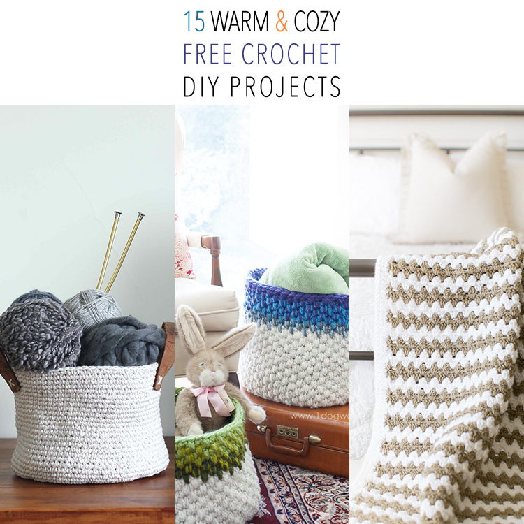 15 Warm and Cozy FREE Crochet DIY Projects