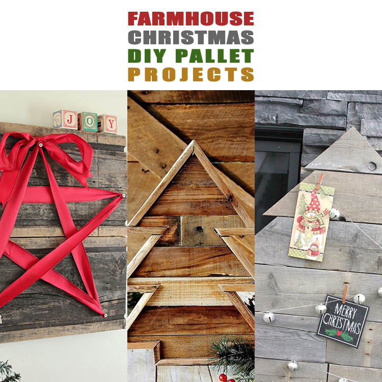 Farmhouse Christmas DIY Pallet Projects