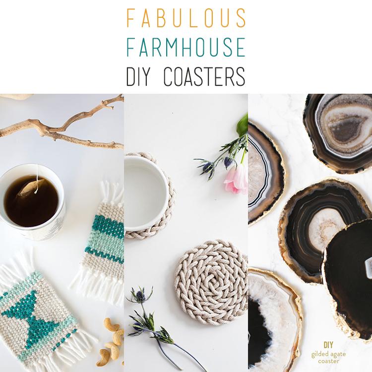 22 Fabulous Farmhouse DIY Coasters