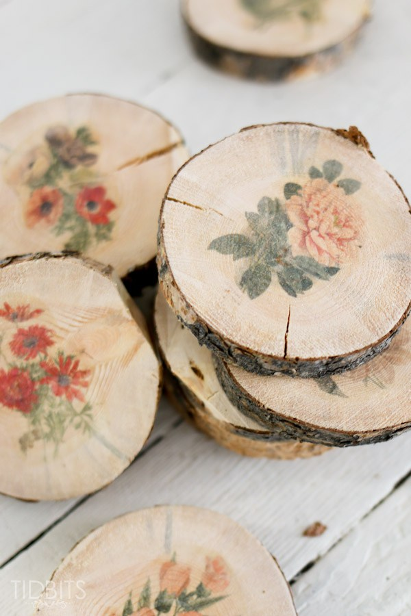 22 fabulous farmhouse diy coasters page 3 of 3 the for Diy rustic coasters