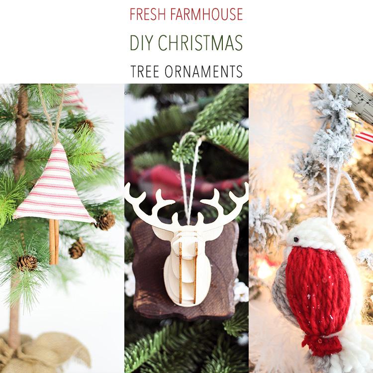 Fresh Farmhouse DIY Christmas Tree Ornaments