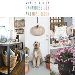 What's New in Farmhouse DIY and Home Decor
