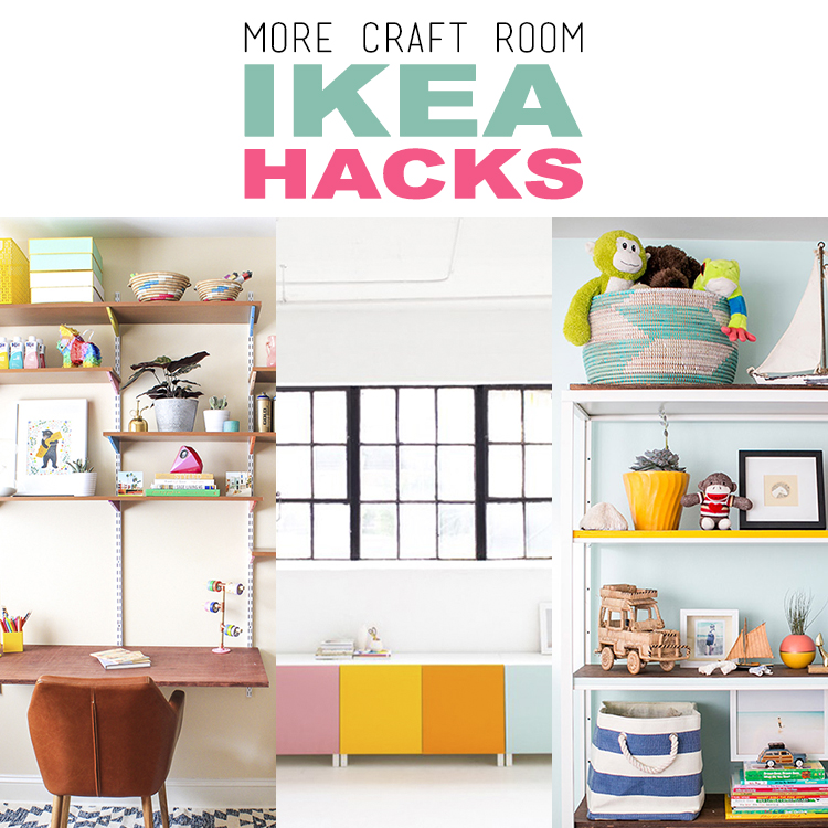 more craft room ikea hacks the cottage market. Black Bedroom Furniture Sets. Home Design Ideas