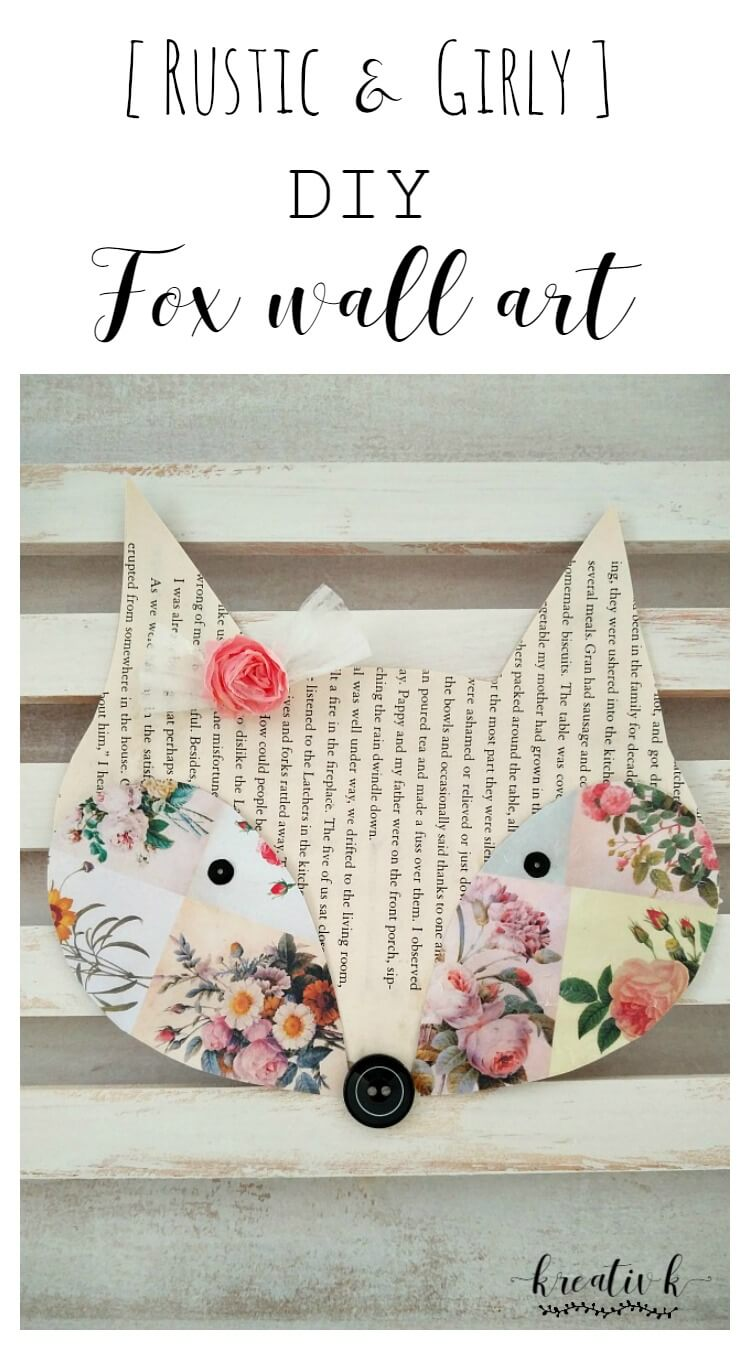 Rustic-Girly-DIY-Fox-Wall-Art-kreativk.net-7