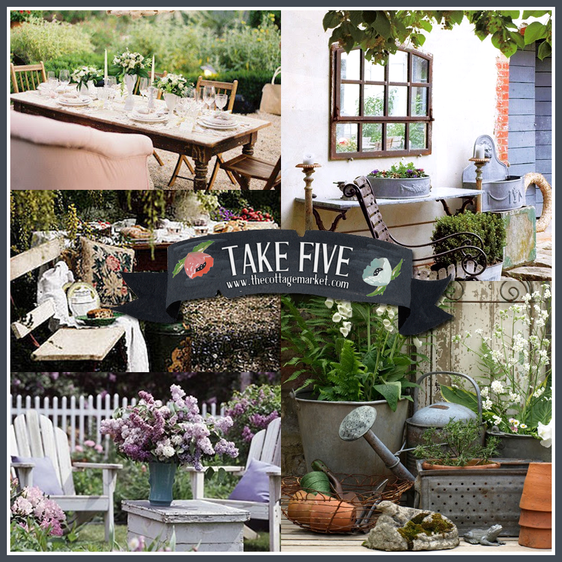 Take Five: Vintage Outdoor Decor - The Cottage Market on Backyard Garden Decor id=32071