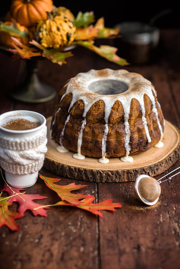Pumpkin Chai Bundt Cake with Chai Glaze