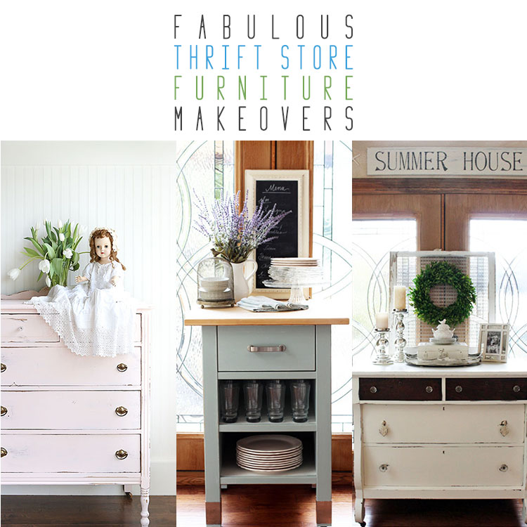 Fabulous Thrift Store Furniture Makeovers