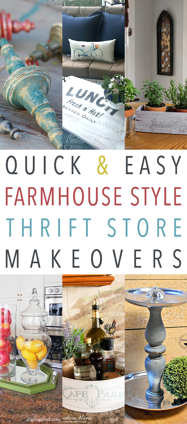 Quick and Easy Farmhouse Style Thrift Store Makeovers ...